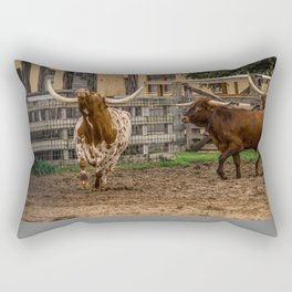 Frolicking Longhorns Rectangular Pillow