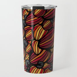 Tropical Cashew Apples Pattern Travel Mug