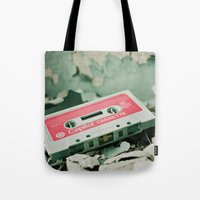 old school Tote Bags featuring Old School  by Riot Jane