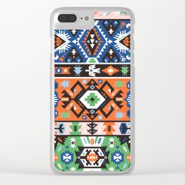 Tribal chic seamless colorful patterns Clear iPhone Case
