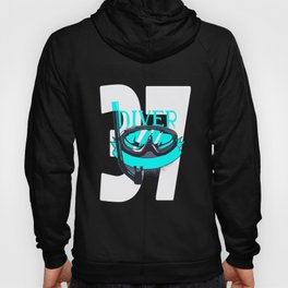 Scuba Diving 37th Birthday Diver 37 Years Gift Hoody