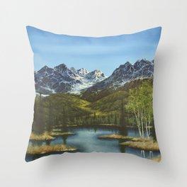 Frontier Spring Throw Pillow