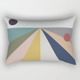 black sun, red sun Rectangular Pillow