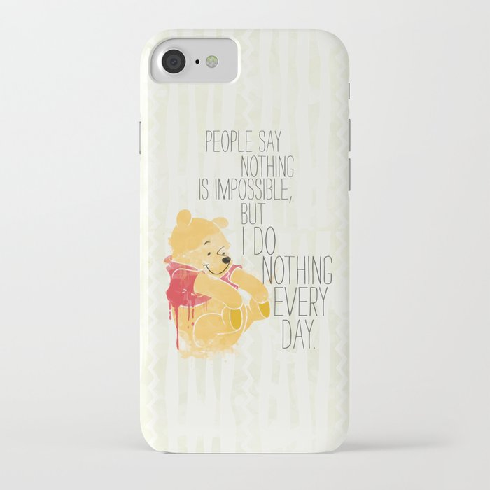 I do nothing every day iPhone Case