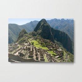Machu hu Peru Metal Print