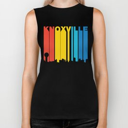 Retro 1970's Style Knoxville Tennessee Skyline Biker Tank