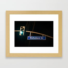 Mulholland Drive Framed Art Print