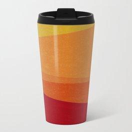 Stripe X Orange Peel Metal Travel Mug