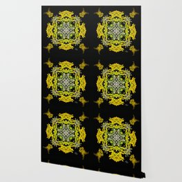 Crowning Goldenrod and Silver king Kaleidoscope Scanography Wallpaper