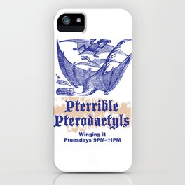 Pterrible Pterodactyls iPhone Case