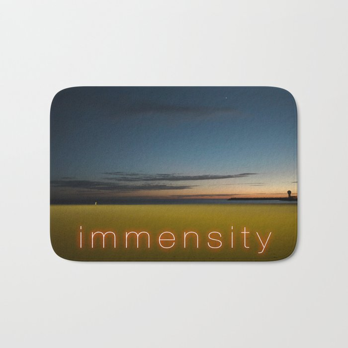 Immensity On A Night Summer Beach Bath Mat