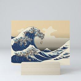 The Great Wave of Pugs Vanilla Sky Mini Art Print