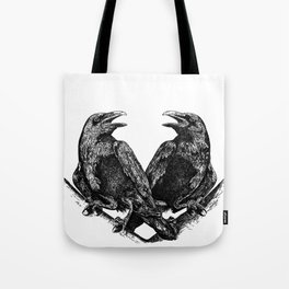 Odins Ravens Huginn and Muninn Tote Bag