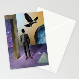 raven and red shoes Stationery Cards