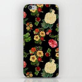 Black and red Vintage roses iPhone Skin