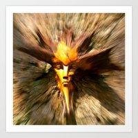 scary Art Prints featuring Scary by ColinBoylett