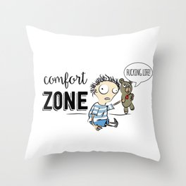Confort Zone Throw Pillow