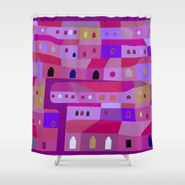 Ecatepec de Noche Shower Curtain