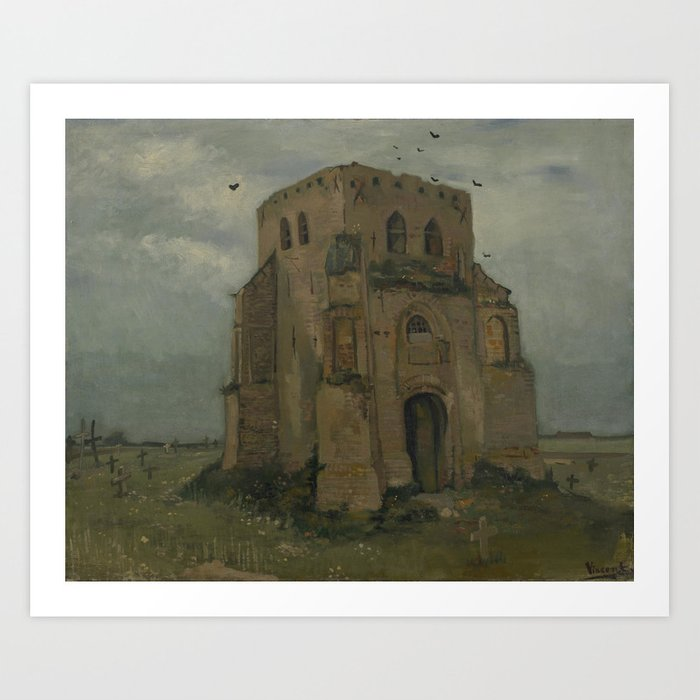 The Old Church Tower at Nuenen Art Print