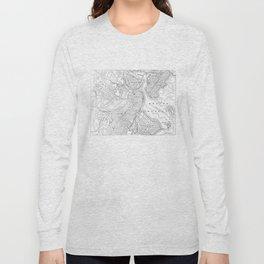 Vintage Map of Boston (1878) Long Sleeve T-shirt