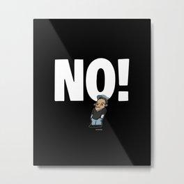 No! no.1 white Metal Print