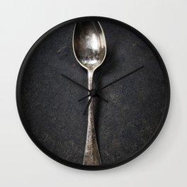 Vintage metal spoon Wall Clock