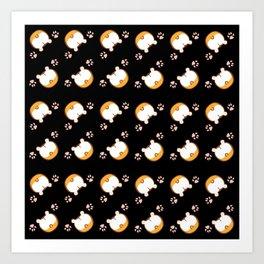 Corgi Butt Pattern Art Print