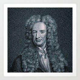 Gravity / Vintage portrait of Sir Isaac Newton Art Print