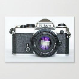 Vintage Nikon Camera Canvas Print