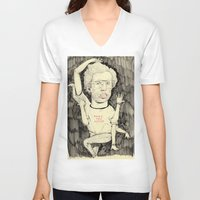napoleon V-neck T-shirts featuring Napoleon Dynamite by withapencilinhand