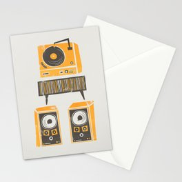 Vinyl Deck And Speakers Stationery Cards