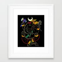 ganesha Framed Art Prints featuring Ganesha by Ghavuri Kumar