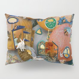 Fall Pumpkin Fantasy Tiny House Village Pillow Sham