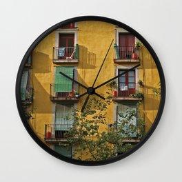 Windows in Barcelona Wall Clock