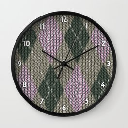 Pink Roses in Anzures 1 Argyle 1 Wall Clock