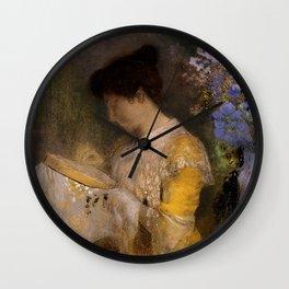 "Odilon Redon ""Madame Arthur Fontaine (Marie Escudier)"" Wall Clock"