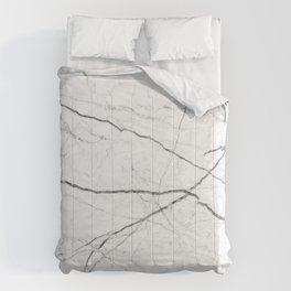 preppy minimalist modern chic grey white marble Comforters