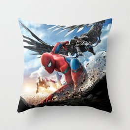spider man homecoming Throw Pillow
