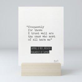 Sappho, If not, Winter, quote.  Mini Art Print