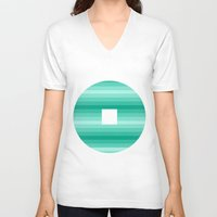 window V-neck T-shirts featuring Window by Cs025