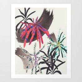 Droopy Plants Art Print