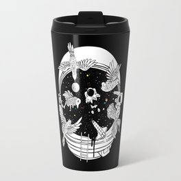 Depth of Discovery (A Case of Constant Curiosity-B/W) Travel Mug