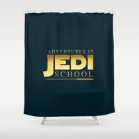 jedi Shower Curtains featuring Adventures in Jedi School by The Cracked Dispensary