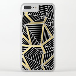 Ab Lines 2 Gold Clear iPhone Case