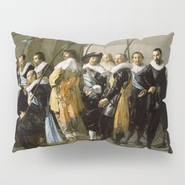 """Franz Hals """"Militia Company of District XI also known as 'The Meagre Company'"""" Pillow Sham"""