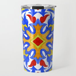 Portuguese azulejo tiles. Gorgeous patterns. Travel Mug