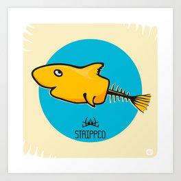 STRIPPED Art Print