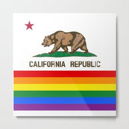 California Rainbow LGBT PRIDE SEASON GAY ART GIFT SAN FRANCISO OSOS Metal Print