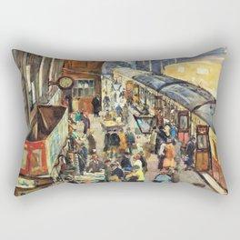 The Terminus, Penzance Station - Stanhope Alexander Forbes Rectangular Pillow