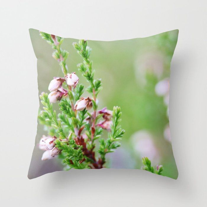Heather flower Throw Pillow